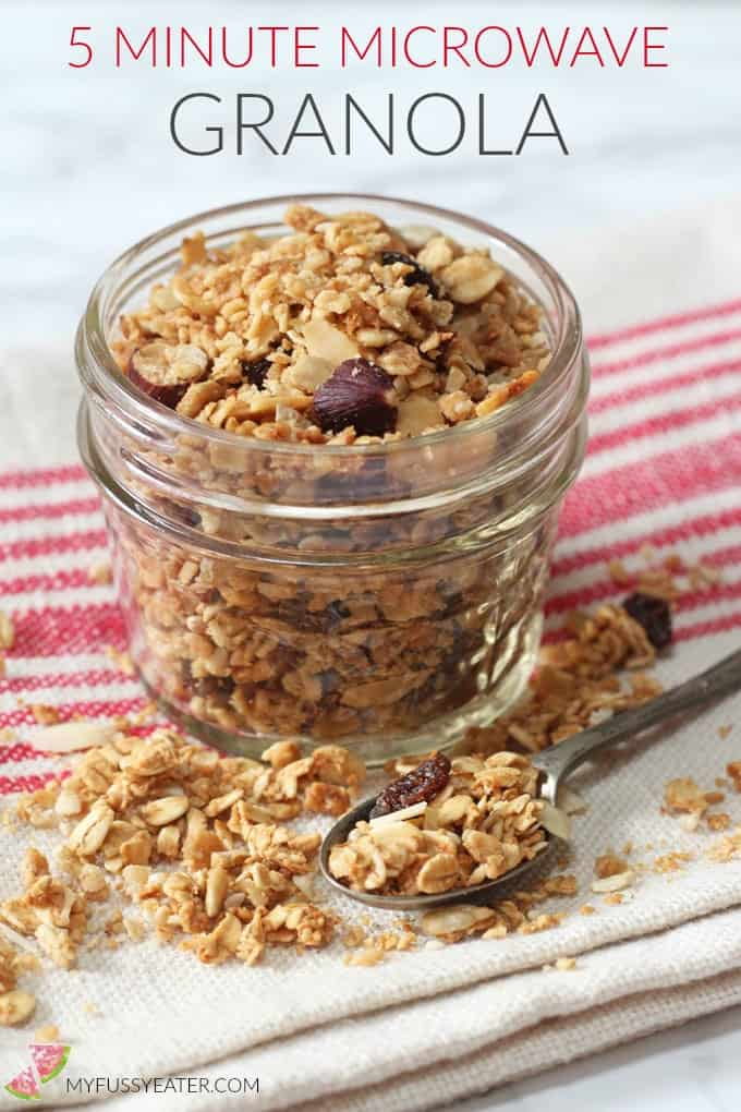 5 minute microwave granola