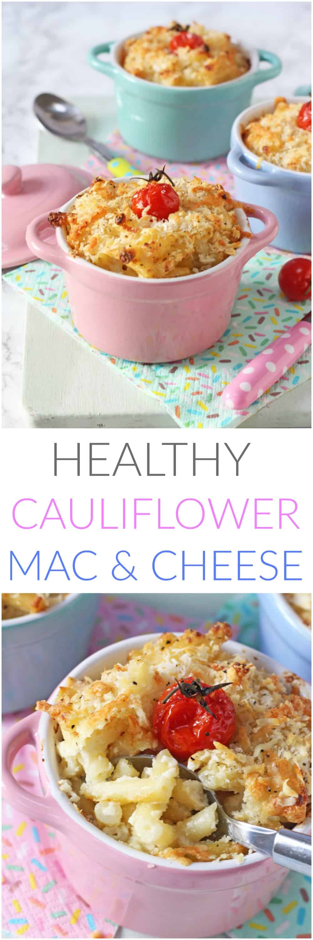 A healthy twist on an old family favourite. This Cauliflower Mac & Cheese is packed with hidden veggies that the kids can't see or taste!