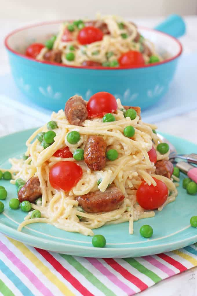 Easy Sausage Spaghetti For Kids