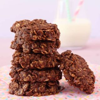 Delicious, easy to make and packed with healthy ingredients; kids will love these No Bake Chocolate Granola Cookies!