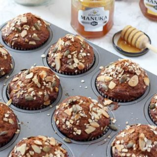 Superfood Breakfast Muffins with Rowse Manuka Honey