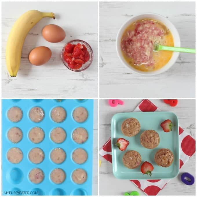Banana & Egg Mini Muffin recipe stages