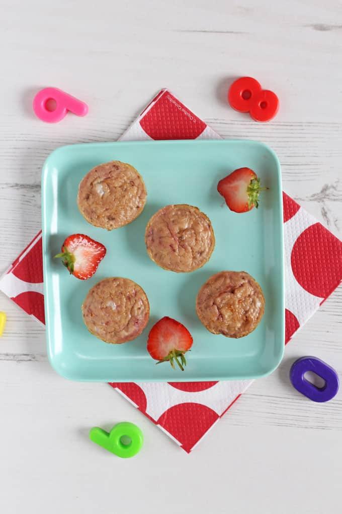 Banana & Egg Mini Muffins for baby weaning
