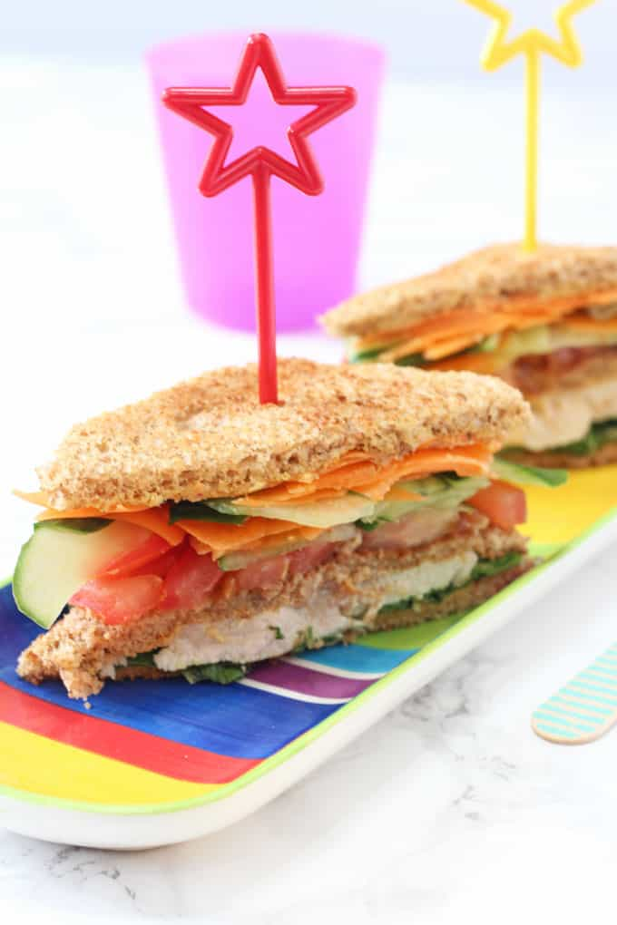 tasty and healthy lunch sandwich for kids