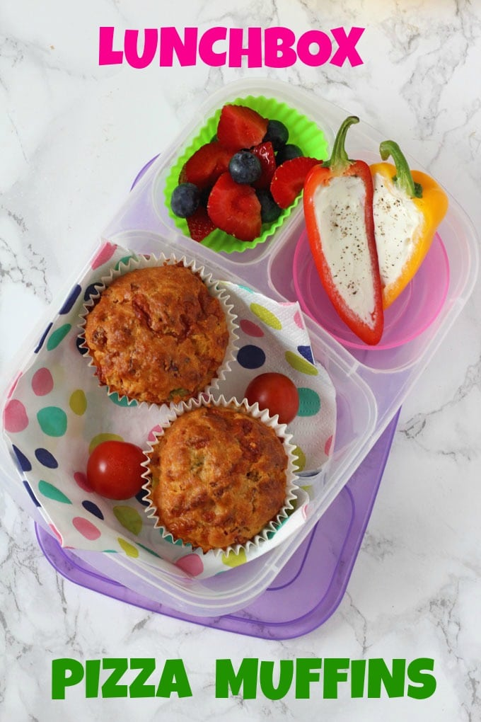 lunchbox pizza muffins