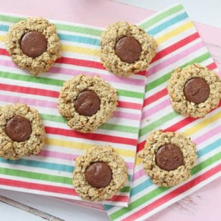Chocolate Oat Thumbprint Cookies {Gluten & Dairy Free}