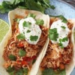 These tasty Chicken Fajitas are so easy to make. Simply bung all the ingredients into the slow cooker and come back to a delicious dinner later in the day! Super healthy and Slimming World friendly too!