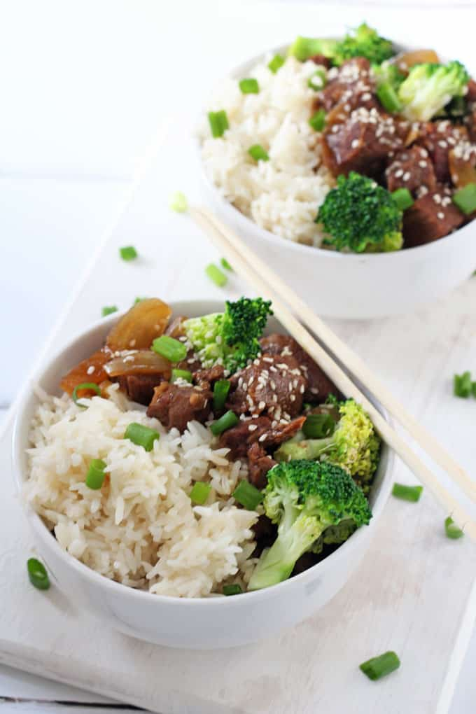 beef & broccoli with rice