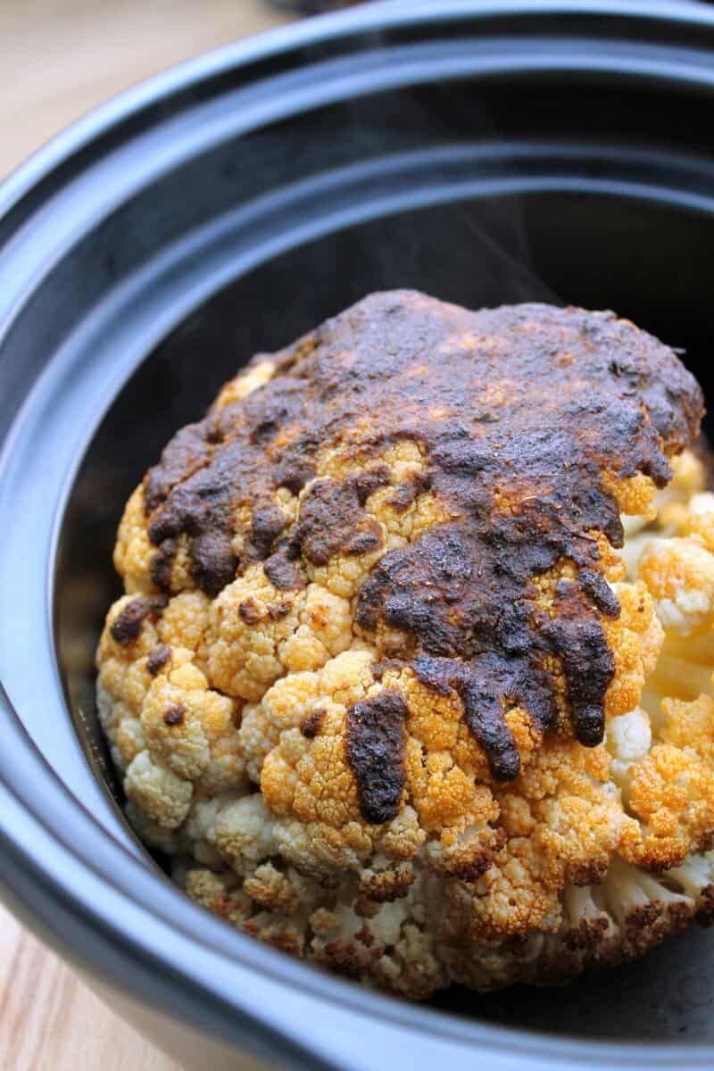 Whole Spiced Cauliflower Slow Cooker