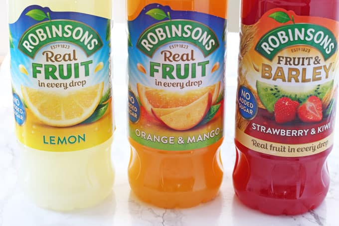 Robinsons Real Fruit Squash varieties
