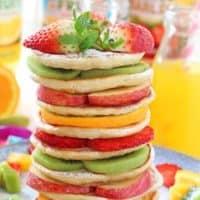 Fruit Pancake Stacks