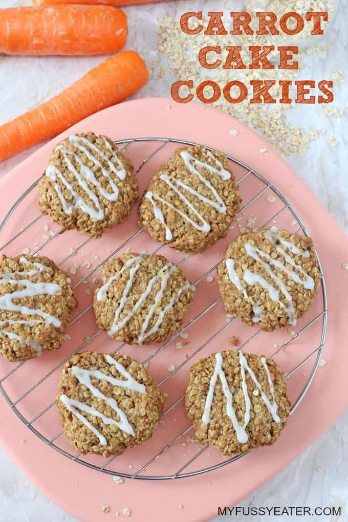 These delicious cookies are gluten, dairy and egg free, low in sugar and packed with nutritious oats and carrots! A great way to get the kids into the kitchen cooking!