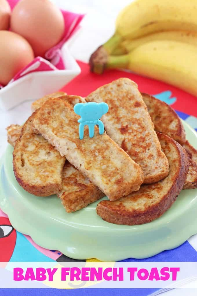 This simple French Toast or Eggy Bread recipe makes the perfect finger food for weaning babies and toddlers!