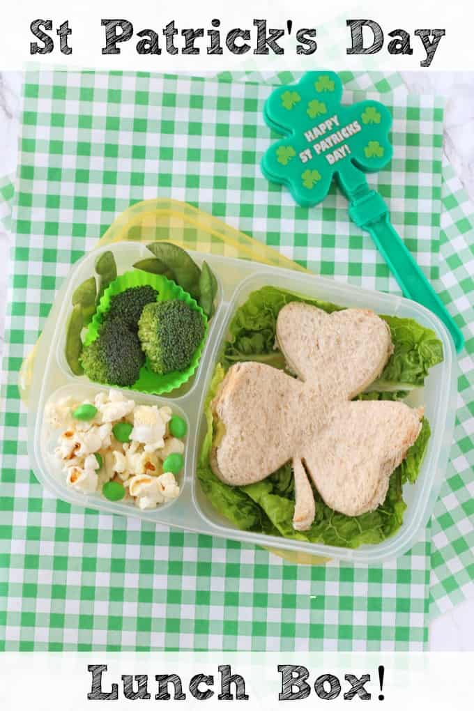 A cute but super simple lunch box idea for kids this St Patrick's Day!