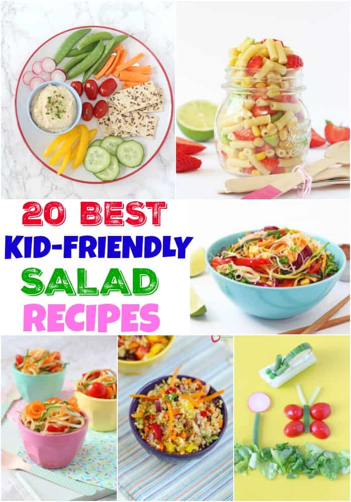 20 Best Kid-Friendly Salad Recipes Pinterest Pin