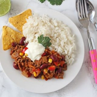 A tasty and mild Chilli Con Carne recipe for kids that's packed full lots of vegetables too!