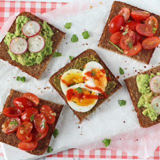 Healthy Open Rye Sandwiches