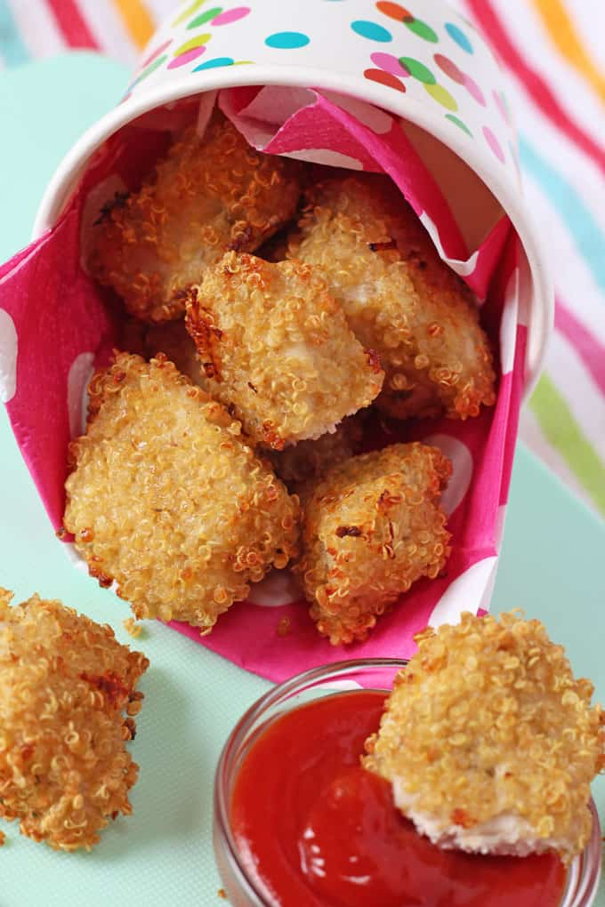 nuggets with tomato ketchup