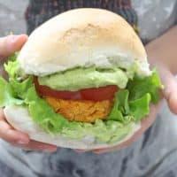 Sweet Potato Chickpea Vegetable Burger