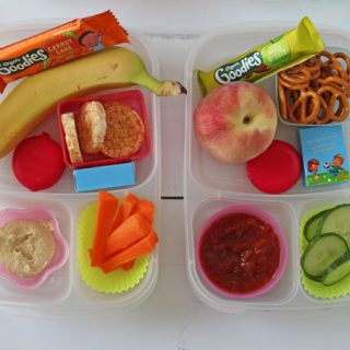 Make travelling with kids a little easier and less stressful by packing them a box of these tasty and healthy snacks!