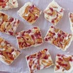 A delicious new twist of my classic Frozen Yogurt Bark, this time with peanut butter and jelly. A really great summer snack that the kids will love!