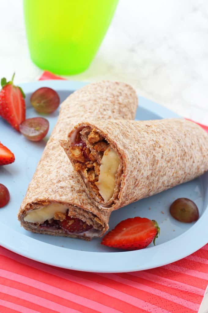 fruity breakfast wrap