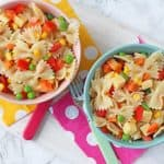 Feeding kids this summer is super easy with this delicious and quick Pasta Salad recipe!