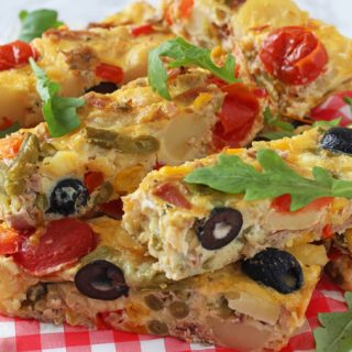 Celebrate the versatility of canned food by making this super easy Tuna Nicoise Frittata using tinned tuna, sweetcorn, green beans and olives