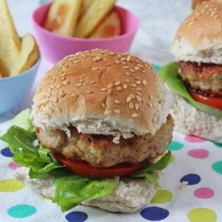 Chicken & Apple Burgers