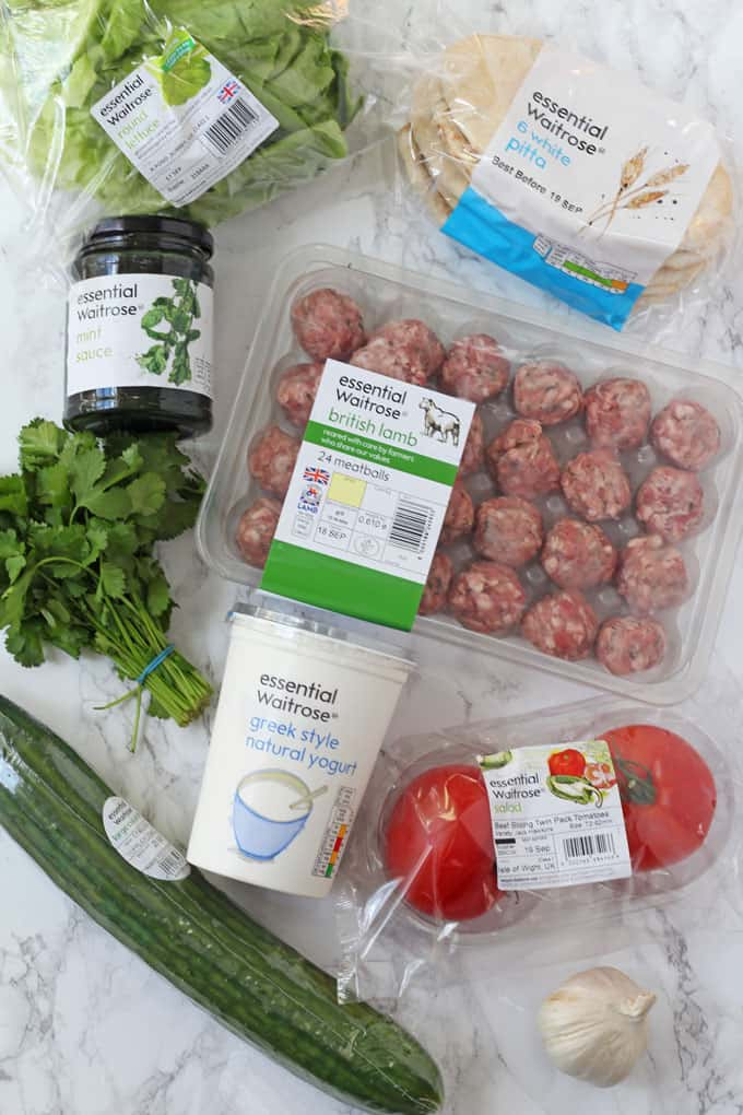 Lamb Kofta ingredients