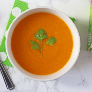 Fragrant Thai Carrot & Coconut Soup made with the exact ingredients in Heniz Soup Of The Day