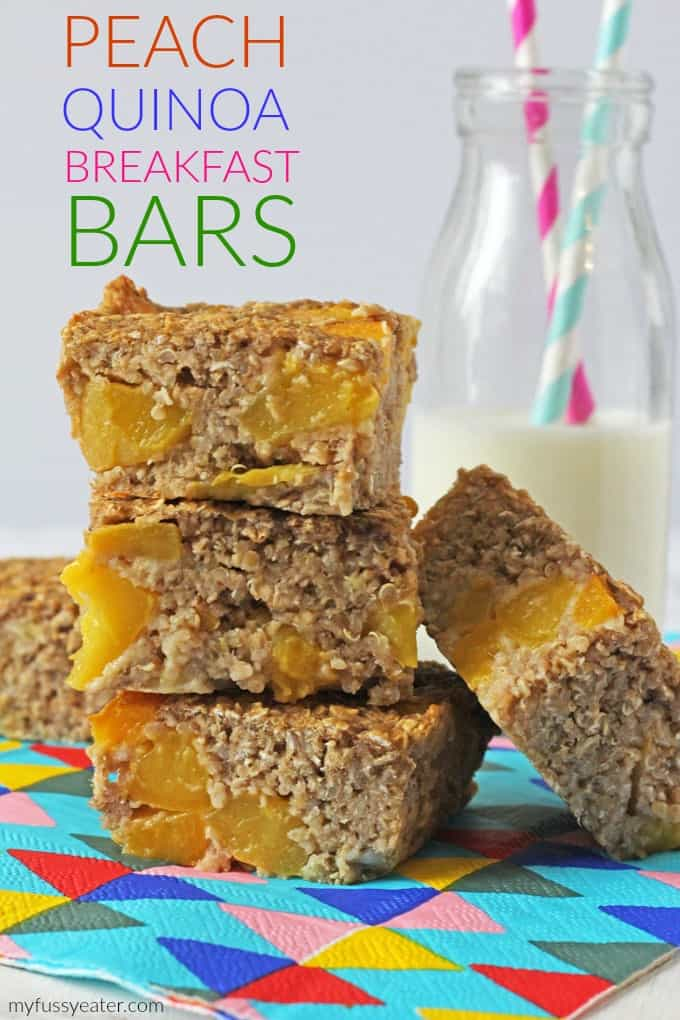 Peach Quinoa Breakfast Bars Pinterest Pin