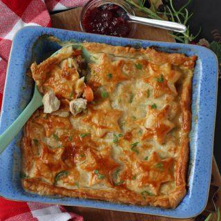 Leftover Turkey, Cranberry & Brie Pie