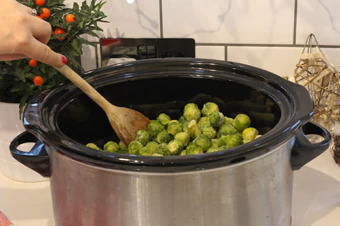 Free up some space on your cooker this Christmas by cooking your Brussels Sprouts in the slow cooker. It's so easy to do and so tasty too!