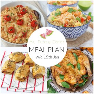 Family Meal Plan 15th January