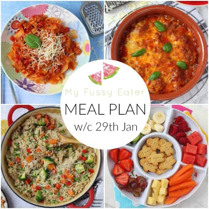 Family Meal Plan 29th January 2018