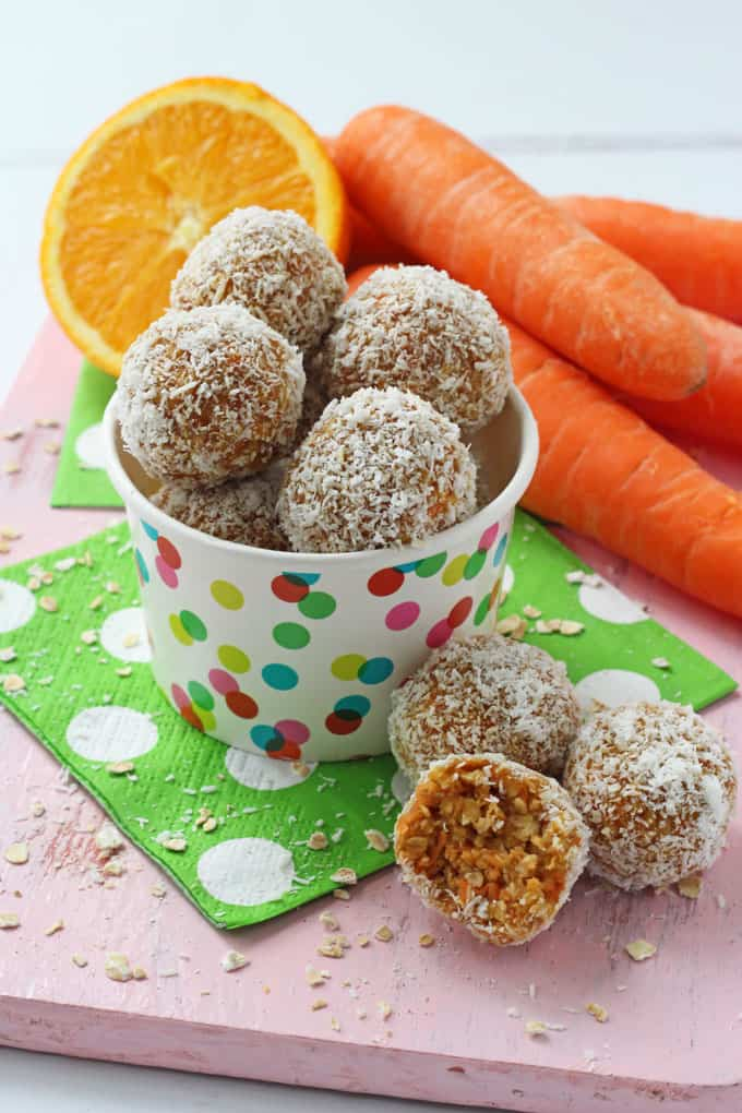No Bake Carrot Cake Energy Bites