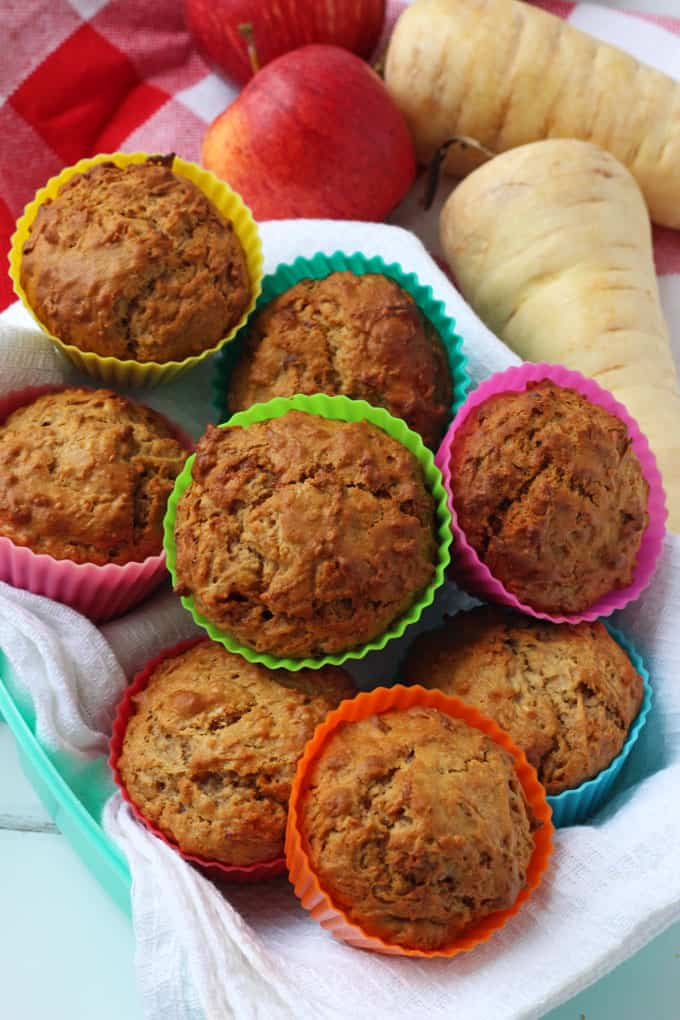 Kid-Friendly Parsnip and Apple Muffins. The perfect afternoon snack!