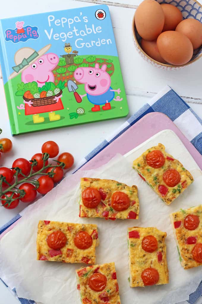 Easy Tomato Frittata Fingers, perfect for a quick and easy kids lunch