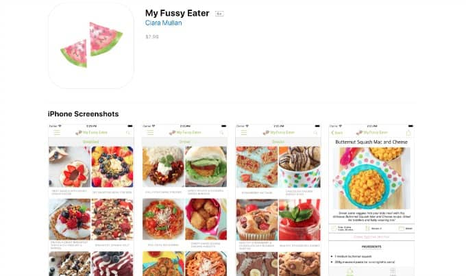 My Fussy Eater App Store lisiting