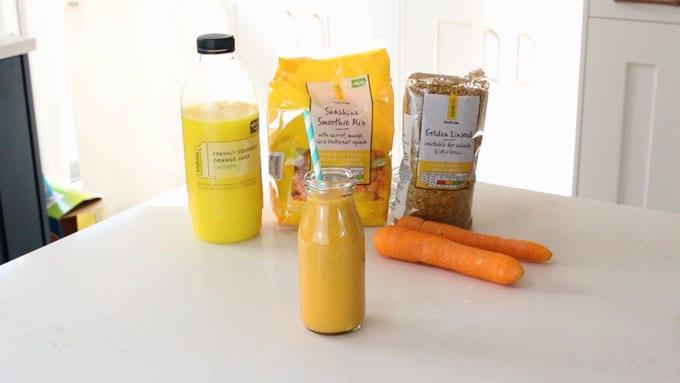 Carrot & Orange Smoothie Ingredients