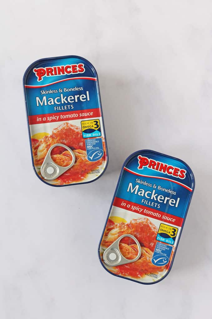 A quick and easy lunch or dinner for two made Princes Mackerel Fillets