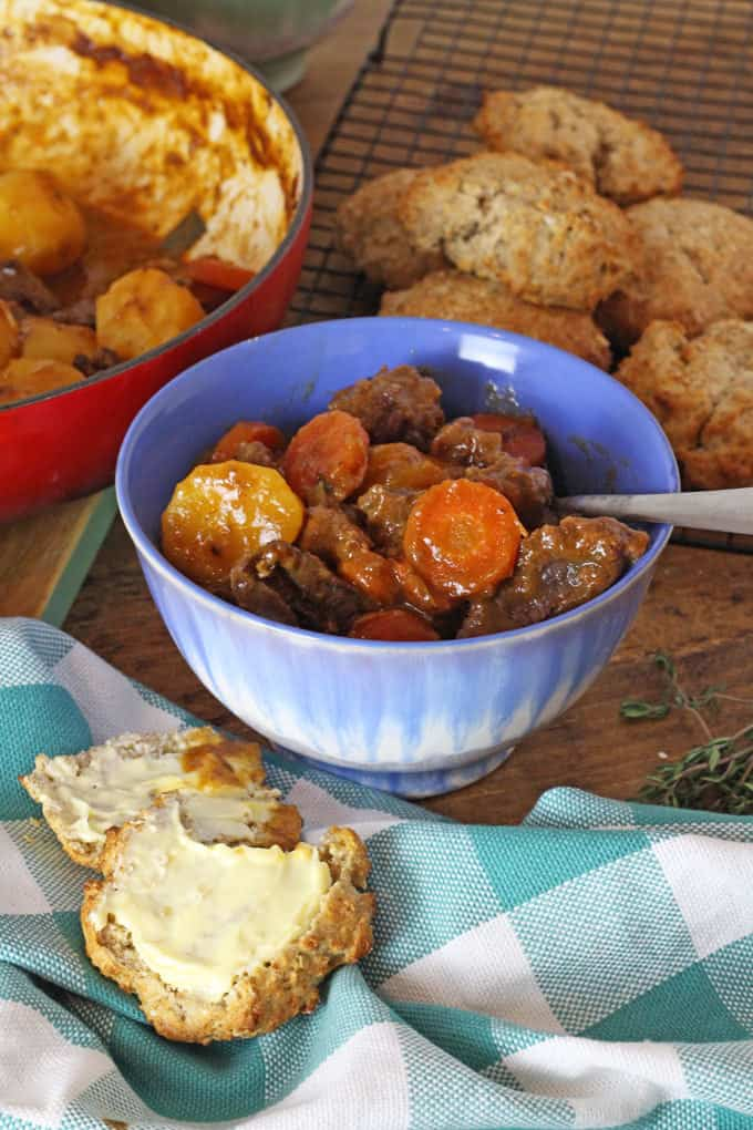 Soda Bread Scones served with Irish Beef Stew