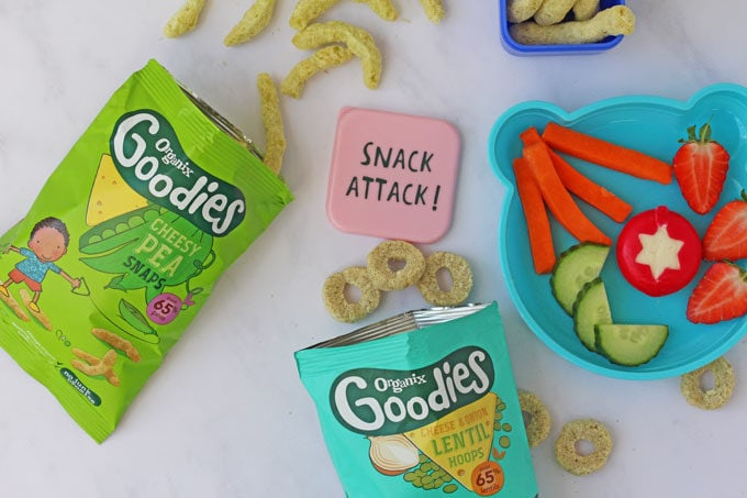 Organix healthy snacks for kids