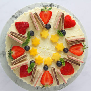 No Bake Loacker Cheesecake