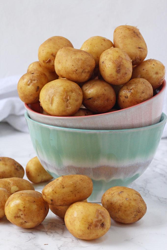 cornish new potatoes in a bowl