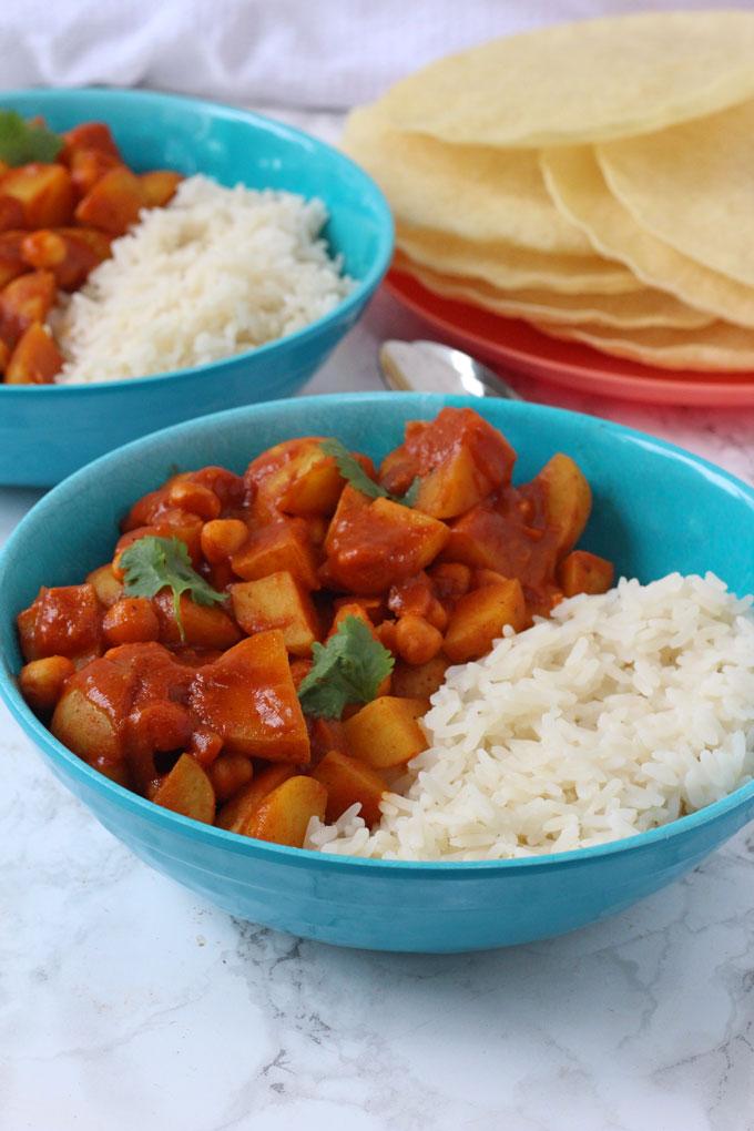 potato & chickpea curry