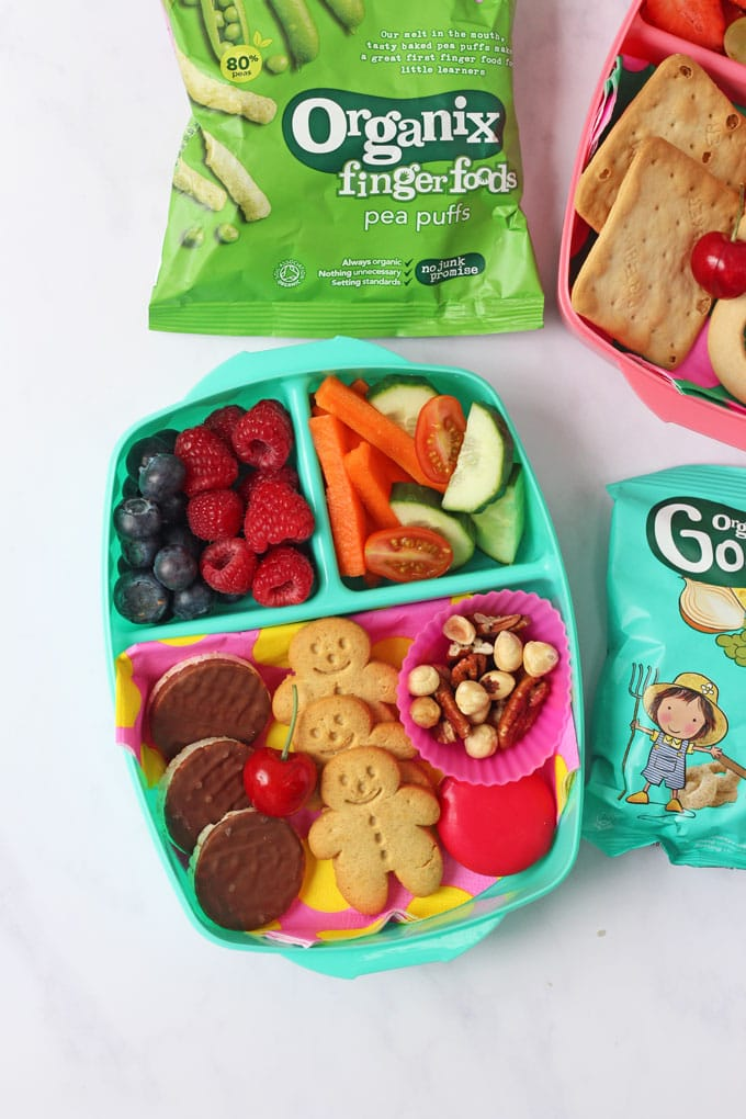 Picture of healthy snacks and Organix snacks