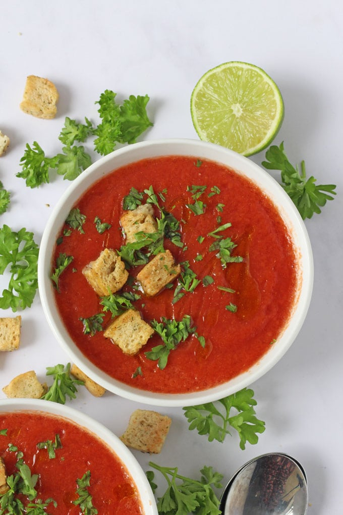 Instant Chilled Gazpacho Tomato Soup