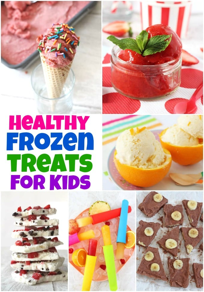 15 Delicious & Healthy Frozen Treats for Kids - from ice creams to sorbets and frozen yoghurt too!